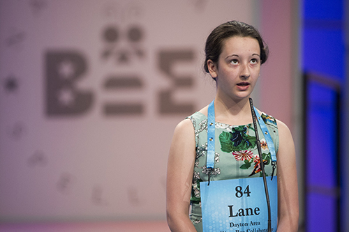 """<div class=""""meta image-caption""""><div class=""""origin-logo origin-image ap""""><span>AP</span></div><span class=""""caption-text"""">Lane Schnell of Centerville, Ohio misspells her word during the 90th Scripps National Spelling Bee in Oxon Hill, Md., Wednesday, May 31, 2017. (AP Photo/Cliff Owen)</span></div>"""