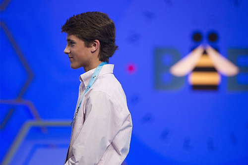 """<div class=""""meta image-caption""""><div class=""""origin-logo origin-image ap""""><span>AP</span></div><span class=""""caption-text"""">Zachary Hoelscher, 14, from Lorena, Texas, walks offstage after misspelling his wordduring the 90th Scripps National Spelling Bee in Oxon Hill, Md., Wednesday, May 31, 2017. (AP Photo/Cliff Owen)</span></div>"""