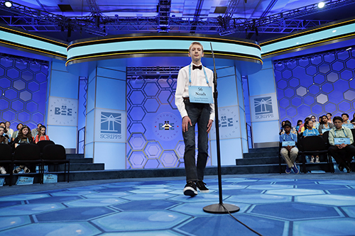 """<div class=""""meta image-caption""""><div class=""""origin-logo origin-image ap""""><span>AP</span></div><span class=""""caption-text"""">Noah Brandt, 14, from Jackson, Tenn., approaches the microphone in the third round of the 90th Scripps National Spelling Bee, Wednesday, May 31, 2017, in Oxon Hill, Md. (AP Photo/Alex Brandon)</span></div>"""