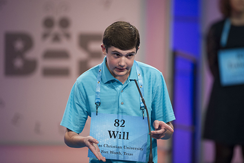 """<div class=""""meta image-caption""""><div class=""""origin-logo origin-image ap""""><span>AP</span></div><span class=""""caption-text"""">Will Lourcey Fort Worth, Texas correctly spells his word during the 90th Scripps National Spelling Bee in Oxon Hill, Md., Wednesday, May 31, 2017. (AP Photo/Cliff Owen)</span></div>"""