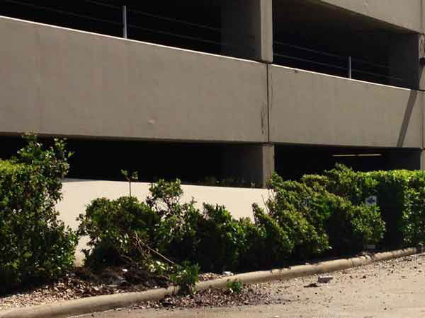 A parking garage in the Galleria area partially collapsed Monday night. <span class=meta></span>