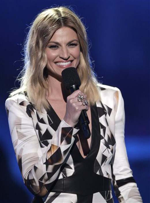 """<div class=""""meta image-caption""""><div class=""""origin-logo origin-image none""""><span>none</span></div><span class=""""caption-text"""">Host Erin Andrews speaks on stage  at the CMT Music Awards at the Bridgestone Arena on Wednesday, June 8, 2016, in Nashville, Tenn. (Wade Payne/Invision/AP)</span></div>"""