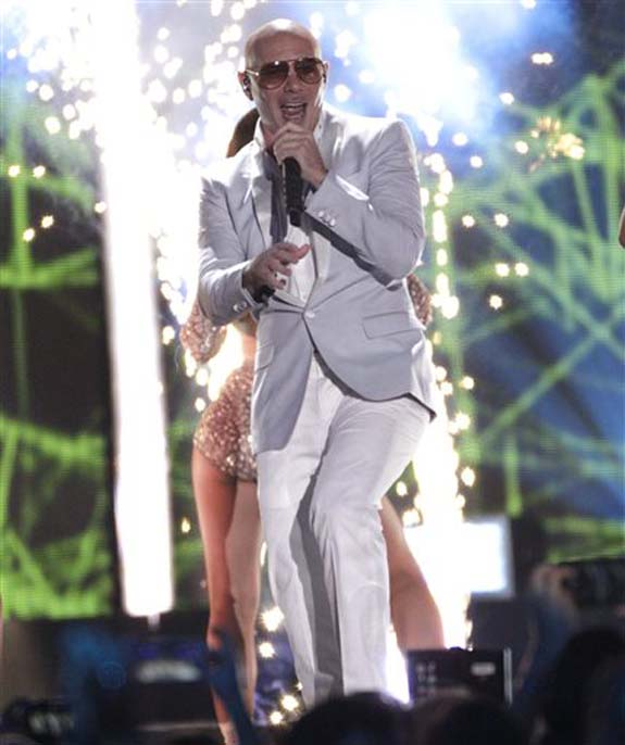 """<div class=""""meta image-caption""""><div class=""""origin-logo origin-image none""""><span>none</span></div><span class=""""caption-text"""">Pitbull performs """"Messin' Around"""" at the CMT Music Awards at the Bridgestone Arena on Wednesday, June 8, 2016, in Nashville, Tenn. (Wade Payne/Invision/AP)</span></div>"""