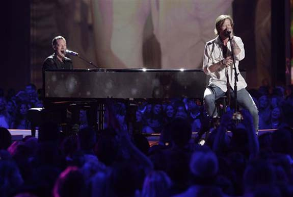 """<div class=""""meta image-caption""""><div class=""""origin-logo origin-image none""""><span>none</span></div><span class=""""caption-text"""">Tyler Hubbard, left, and Brian Kelley, of Florida Georgia Line perform H.O.L.Y. at the CMT Music Awards at the Bridgestone Arena on Wednesday, June 8, 2016, in Nashville, Tenn. (Wade Payne/Invision/AP)</span></div>"""