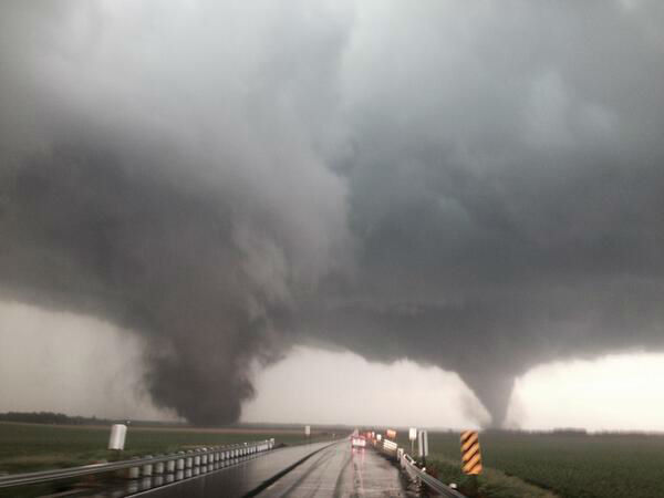 Strong tornadoes did heavy damage to the town of Pilger, NE. <span class=meta>@Storm Coker</span>
