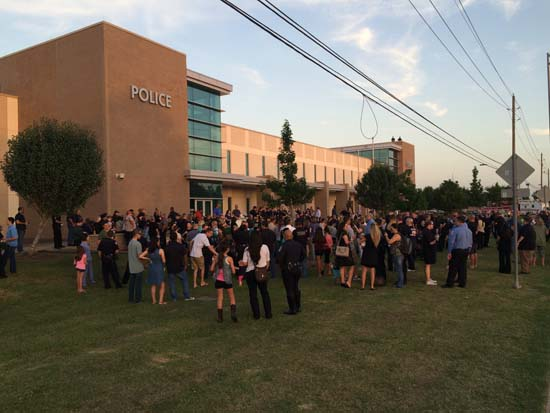 <div class='meta'><div class='origin-logo' data-origin='KTRK'></div><span class='caption-text' data-credit='Pearland Police Department'>The Pearland community held a vigil Wednesday night to remember Pearland Officer Endy Ekpanya, killed in a head-on car crash.</span></div>