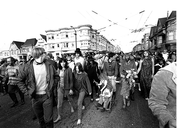 <div class='meta'><div class='origin-logo' data-origin='AP'></div><span class='caption-text' data-credit='AP Photo'>Antiwar demonstrators parade in the Haight-Ashbury district of San Francisco, Calif., on April 2, 1967.</span></div>