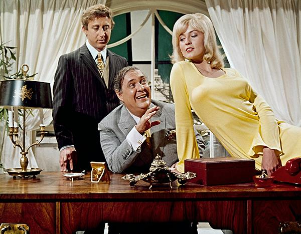 <div class='meta'><div class='origin-logo' data-origin='AP'></div><span class='caption-text' data-credit=''>Lee Meredith with Zero Mostell and Gene Wilder in a scene from the movie &#34;The Producers&#34; July 1967.</span></div>