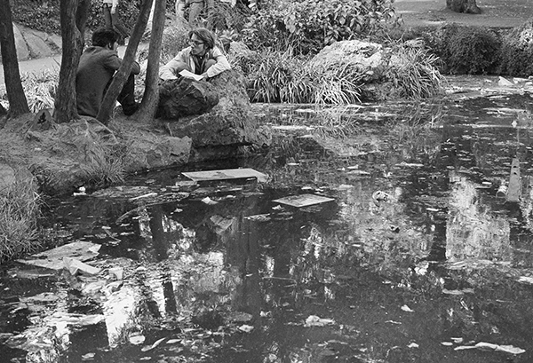 <div class='meta'><div class='origin-logo' data-origin='AP'></div><span class='caption-text' data-credit='AP Photo/Sal Veder'>San Franciscos Golden Gate Park ponds arent what they used to be since the hippies moved in, Oct. 19, 1967, San Francisco, Calif.</span></div>