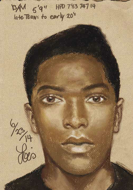 Police described the suspect as a black male, about 5 feet 9 inches tall, in his late teens to early 20s. They've released this composite sketch. <span class=meta></span>
