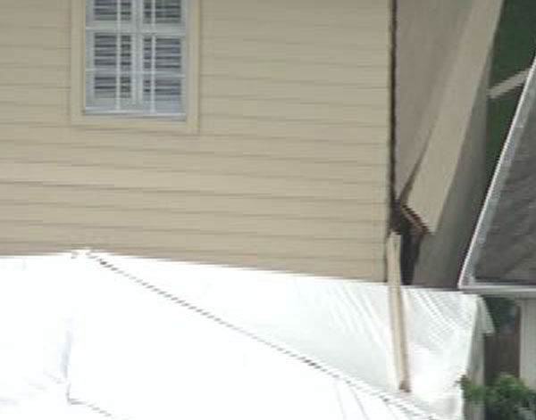 These are photos from the ceiling collapse at a home in west Harris County, Thursday, June 26. <span class=meta>Photo/ABC-13</span>