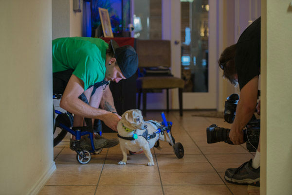 "<div class=""meta image-caption""><div class=""origin-logo origin-image none""><span>none</span></div><span class=""caption-text"">A man who uses a wheelchair to get around met his match in his four-legged friend who needs the same assistance (KTRK Photo)</span></div>"