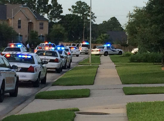 These are photos from a tense standoff in north Harris County after six people were killed and another wounded, Wednesday, July 9. <span class=meta>Photo/ABC-13</span>