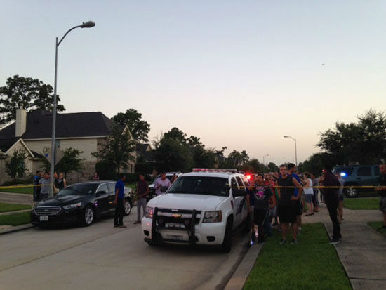 <div class='meta'><div class='origin-logo' data-origin='~ORIGIN~'></div><span class='caption-text' data-credit='Photo/ABC-13'>Photos from standoff  in north Harris County, Wednesday, July 9, 2014.</span></div>