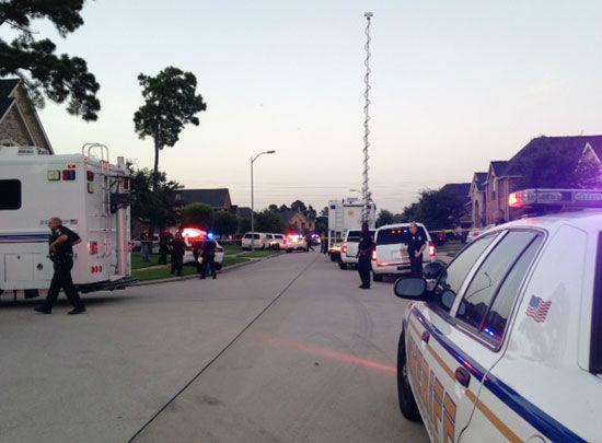 <div class='meta'><div class='origin-logo' data-origin='none'></div><span class='caption-text' data-credit='Photo/ABC-13'>Photos from standoff  in north Harris County, Wednesday, July 9, 2014.</span></div>