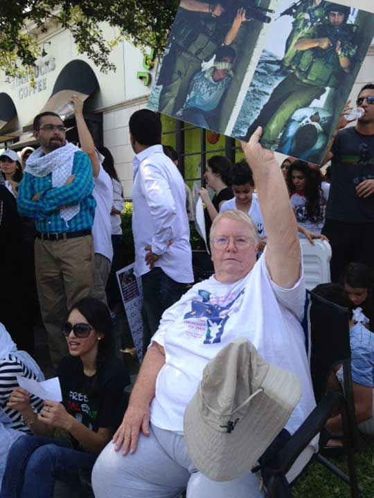 <div class='meta'><div class='origin-logo' data-origin='none'></div><span class='caption-text' data-credit='KTRK Photo'>Pro-Israeli and pro-Palestinian protesters gathered outside The Galleria to voice their concerns over the violence unfolding in the Middle East right now</span></div>