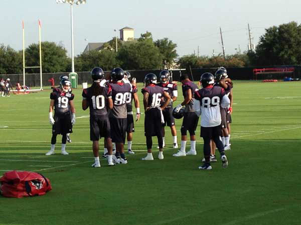 Players gather on the first public day of the Texans training camp <span class=meta>ABC Photo/ ABC</span>