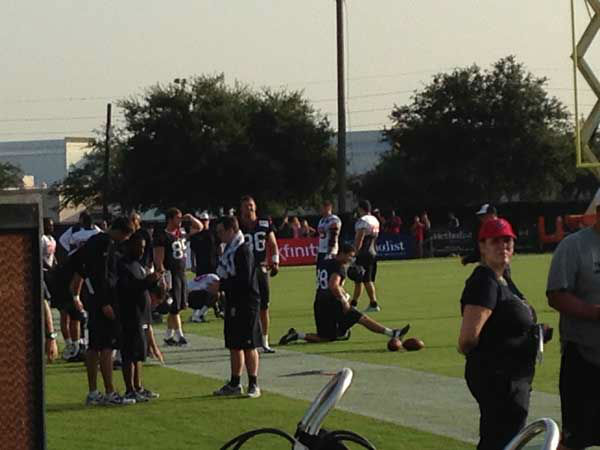 A scene from the first public day of the Texans training camp <span class=meta>ABC Photo/ ABC</span>