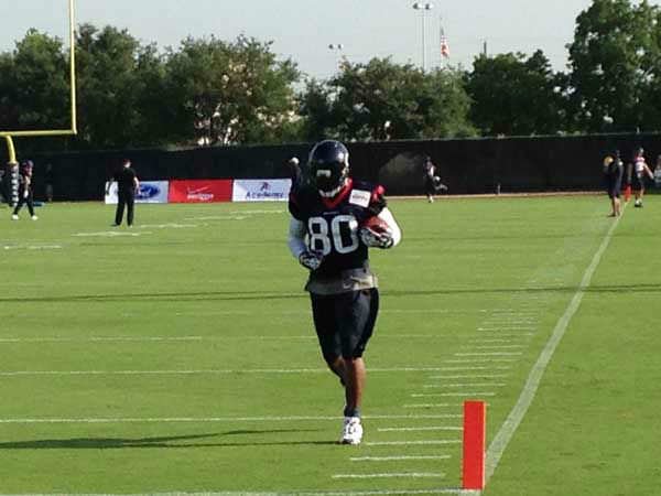 Andre Johnson works out at the Texans training camp. <span class=meta>ABC Photo/ ABC</span>