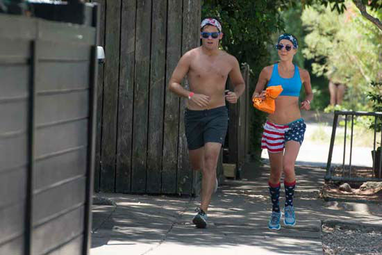 <div class='meta'><div class='origin-logo' data-origin='none'></div><span class='caption-text' data-credit='KTRK Photo/ David Mackey'>The annual &#34;Hot Undies Run&#34; hit the streets of Rice Village, Saturday, August 1, 2015.</span></div>