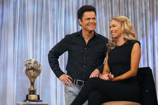 <div class='meta'><div class='origin-logo' data-origin='AP'></div><span class='caption-text' data-credit='AP Photo/Andy Kropa'>Donny Osmond, left, and his partner Kym Johnson, winners of the reality dance competition &#34;Dancing with the Stars&#34;</span></div>