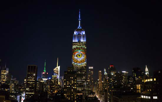 """<div class=""""meta image-caption""""><div class=""""origin-logo origin-image none""""><span>none</span></div><span class=""""caption-text"""">Large images of endangered species are projected on the south facade of The Empire State Building, Saturday, Aug. 1, 2015 in New York. (AP Photo/ Craig Ruttle)</span></div>"""