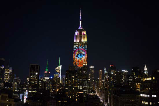 """<div class=""""meta image-caption""""><div class=""""origin-logo origin-image none""""><span>none</span></div><span class=""""caption-text"""">Large images of endangered species are projected on the south facade of The Empire State Building Saturday, Aug. 1, 2015, in New York. (AP Photo/ Craig Ruttle)</span></div>"""