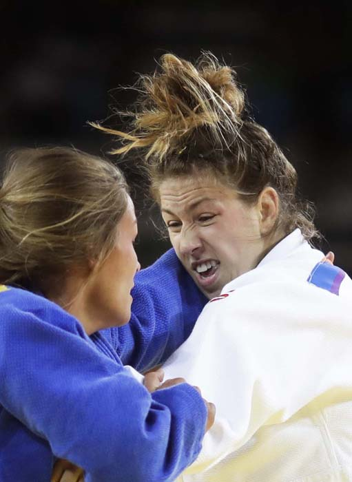 <div class='meta'><div class='origin-logo' data-origin='AP'></div><span class='caption-text' data-credit='AP Photo/Markus Schreiber'>Canada's Catherine Beauchemin-Pinard competes in judo competition</span></div>