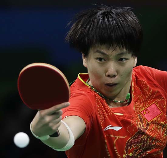 <div class='meta'><div class='origin-logo' data-origin='AP'></div><span class='caption-text' data-credit='AP Photo/Petros Giannakouris'>Li Xiaoxia of China plays table tennis</span></div>