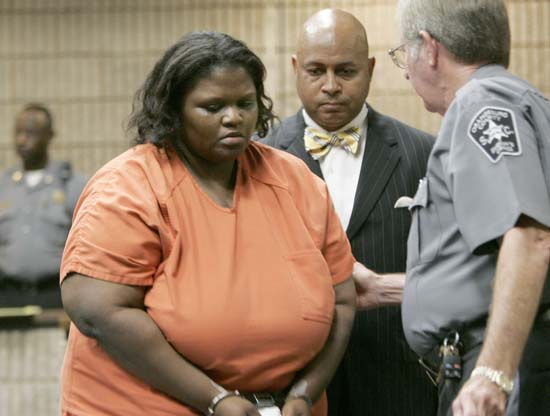 <div class='meta'><div class='origin-logo' data-origin='AP'></div><span class='caption-text' data-credit='AP Photo/Mary Ann Chastain'>Shaquan Duley confessed to suffocating her two toddlers sons in 2010. She was sentenced to 35 years in prison.</span></div>