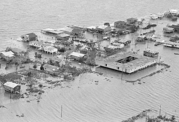 <div class='meta'><div class='origin-logo' data-origin='none'></div><span class='caption-text' data-credit='AP Photo'>Sail boats as they were piled up at the Houston Yacht Club Thursday, August 18, 1983 after Hurricane Alicia hit the Galveston, Texas Area.</span></div>