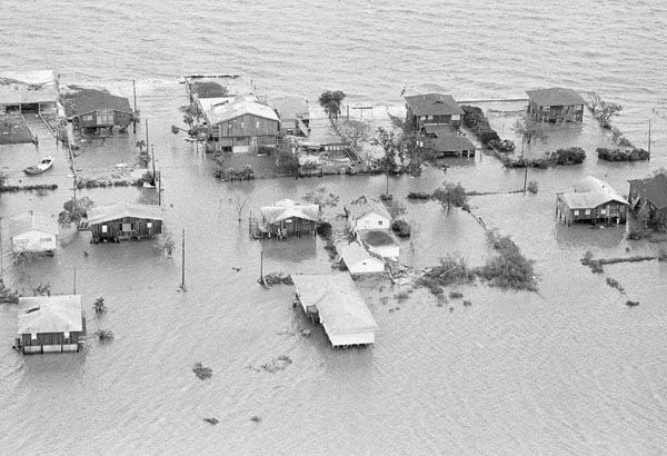<div class='meta'><div class='origin-logo' data-origin='none'></div><span class='caption-text' data-credit='AP Photo'>Galveston Bay over flows its banks into Seabrook, Texas early Thursday morning, August 19, 1983.</span></div>