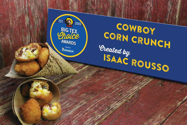 <div class='meta'><div class='origin-logo' data-origin='none'></div><span class='caption-text' data-credit='State Fair of Texas'>Cowboy Corn Crunch by Isaac Rousso</span></div>