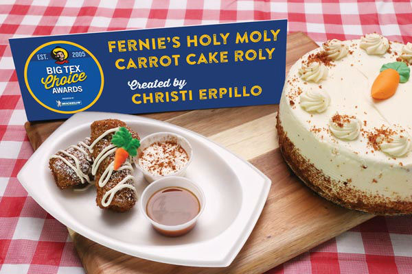 <div class='meta'><div class='origin-logo' data-origin='none'></div><span class='caption-text' data-credit='State Fair of Texas'>Fernie's Holy Moly Carrot Cake Roly by Christi Erpillo</span></div>
