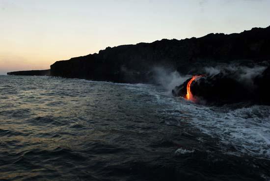 "<div class=""meta image-caption""><div class=""origin-logo origin-image ap""><span>AP</span></div><span class=""caption-text"">Lava from Kilauea, an active volcano on Hawaii's Big Island, flows into the ocean (AP Photo/Caleb Jones)</span></div>"