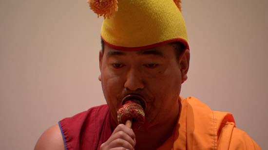 <div class='meta'><div class='origin-logo' data-origin='KTRK'></div><span class='caption-text' data-credit='KTRK'>Drepung Loseling monks perform ancient temple music and dance intended to kindle world healing</span></div>