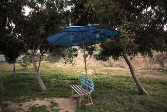 "<div class=""meta image-caption""><div class=""origin-logo origin-image ap""><span>AP</span></div><span class=""caption-text"">A damaged bench is seen at Al-Bisan Zoo in northern Gaza Strip. (AP Photo/ Khalil Hamra)</span></div>"