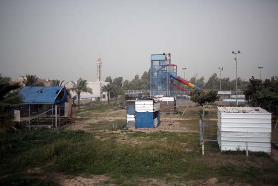 """<div class=""""meta image-caption""""><div class=""""origin-logo origin-image ap""""><span>AP</span></div><span class=""""caption-text"""">Damaged animals cages are seen in Al-Bisan Zoo in northern Gaza Strip. (AP Photo/ Khalil Hamra)</span></div>"""
