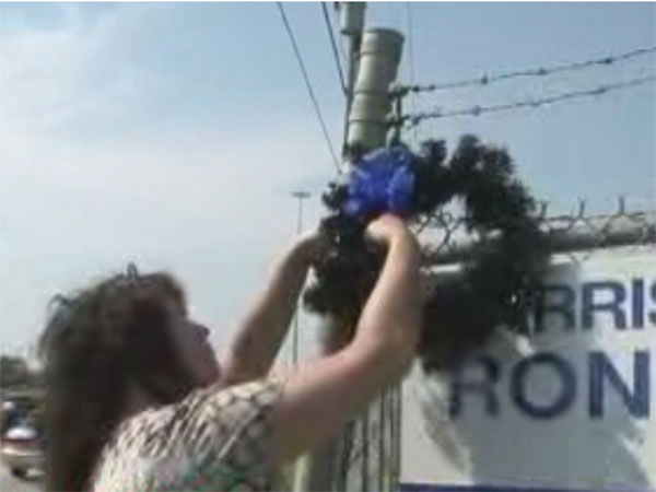 <div class='meta'><div class='origin-logo' data-origin='none'></div><span class='caption-text' data-credit=''>Black wreaths were place outside the substation in northwest Harris County</span></div>