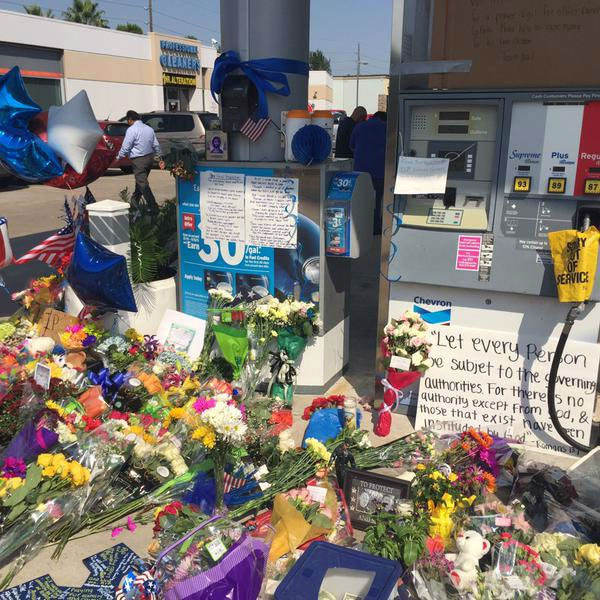 <div class='meta'><div class='origin-logo' data-origin='none'></div><span class='caption-text' data-credit=''>A tribute for Harris County Deputy Darren Goforth is growing at the location where he was fatally shot in NW Harris County</span></div>