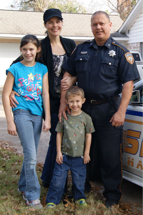 <div class='meta'><div class='origin-logo' data-origin='none'></div><span class='caption-text' data-credit='Photo/Goforth Family photo'>Here is a photo that was released by the family of Harris County Deputy Darren Goforth.</span></div>