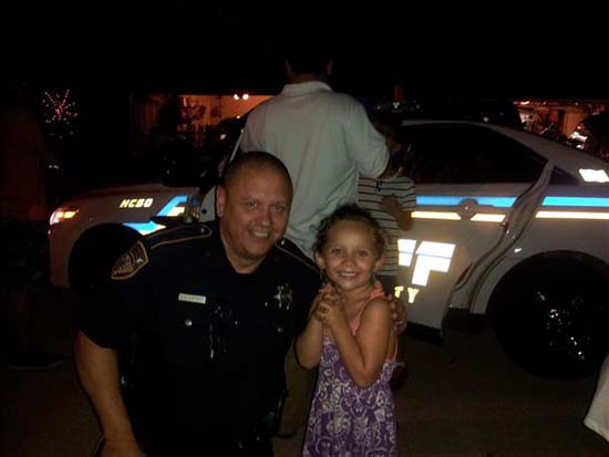 <div class='meta'><div class='origin-logo' data-origin='KTRK'></div><span class='caption-text' data-credit='iWitness viewer-submitted photo'>Deputy Darren Goforth seen in this viewer-submitted photo; &#34;Goforth stopping by our National Night Out in Stone Gate last year. He was so kind and awesome with all our kids.&#34;</span></div>