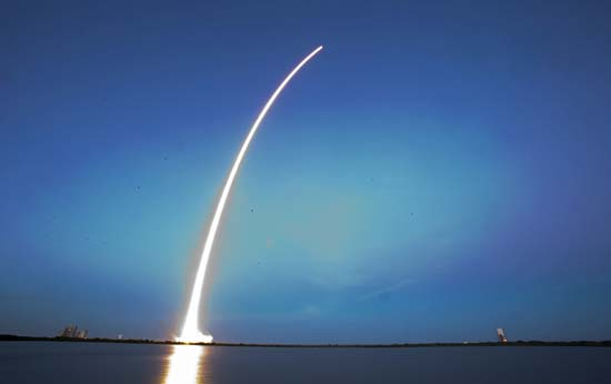 <div class='meta'><div class='origin-logo' data-origin='AP'></div><span class='caption-text' data-credit='AP Photo/John Raoux'>A Falcon 9 SpaceX rocket lifts off from Launch Complex 40 at the Cape Canaveral Air Force Station in Cape Canaveral, Fla.</span></div>