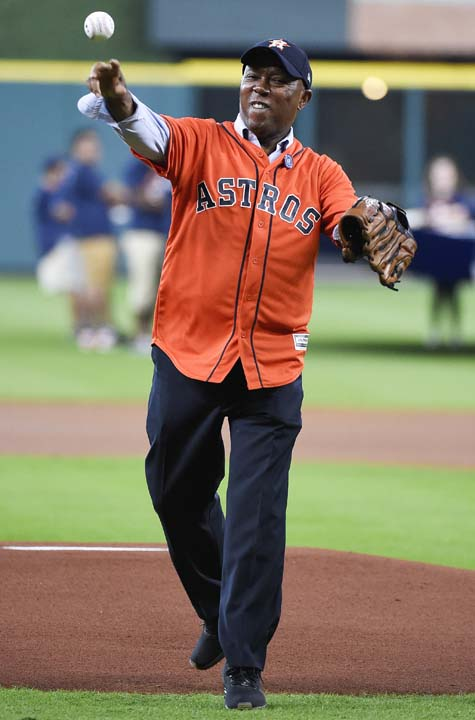 <div class='meta'><div class='origin-logo' data-origin='AP'></div><span class='caption-text' data-credit='Eric Christian Smith'>Houston mayor Sylvester Turner throws out the ceremonial first pitch before a baseball game between the New York Mets and the Houston Astros, Saturday, Sept. 2, 2017, in Houston.</span></div>