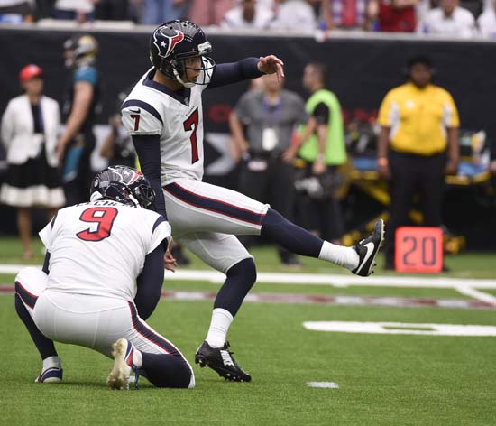 "<div class=""meta image-caption""><div class=""origin-logo origin-image ap""><span>AP</span></div><span class=""caption-text"">Houston Texans kicker Ka'imi Fairbairn (7) puts up an attempt against the Jacksonville Jaguars during the second half of an NFL football game Sunday, Sept. 10, 2017, in Houston. (Eric Christian Smith)</span></div>"