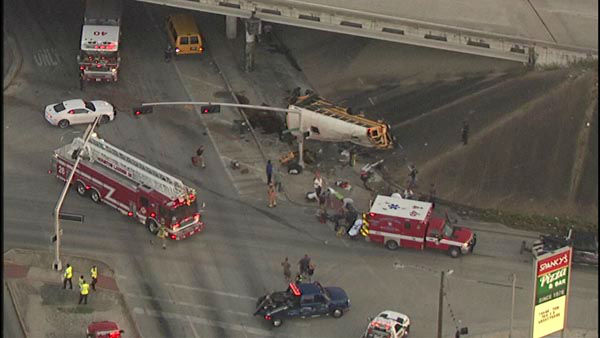 <div class='meta'><div class='origin-logo' data-origin='none'></div><span class='caption-text' data-credit=''>Two students were killed and two others seriously injured when a school bus careened off the 610 South Loop at Telephone Road.</span></div>