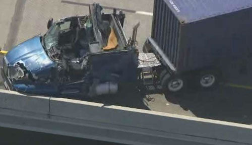 "<div class=""meta image-caption""><div class=""origin-logo origin-image none""><span>none</span></div><span class=""caption-text"">Two drivers were injured in a dramatic accident when an SUV driver made a last minute decision to exit Highway 225 (Photo/KTRK)</span></div>"