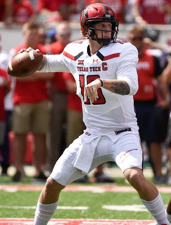 "<div class=""meta image-caption""><div class=""origin-logo origin-image ap""><span>AP</span></div><span class=""caption-text"">Texas Tech quarterback Nic Shimonek drops back to pass during the first half of an NCAA college football game against Houston, Saturday, Sept. 23, 2017, in Houston. (Eric Christian Smith)</span></div>"