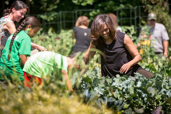 "<div class=""meta image-caption""><div class=""origin-logo origin-image ap""><span>AP</span></div><span class=""caption-text"">First lady Michelle Obama, joined by Let's Move! Executive Director Deb Eschmeyer, left, and school children (AP Photo/Andrew Harnik)</span></div>"