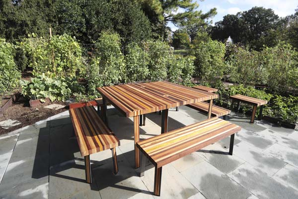 "<div class=""meta image-caption""><div class=""origin-logo origin-image ap""><span>AP</span></div><span class=""caption-text"">Table and benches sit in the middle of of the White House Kitchen Garden (AP Photo/Manuel Balce Ceneta)</span></div>"